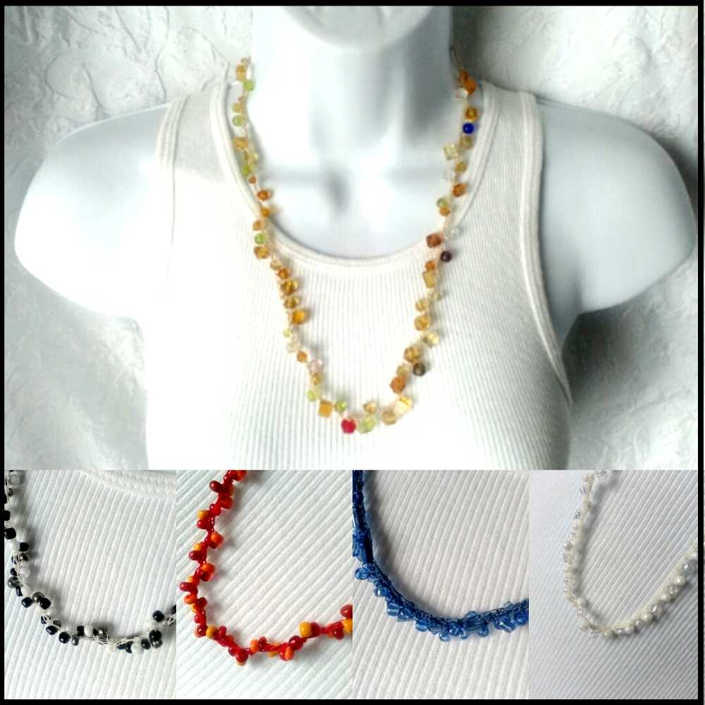 Handmade beaded necklaces make great gifts for mom, gifts for bridesmaids, weddings, homecoming, prom and more.